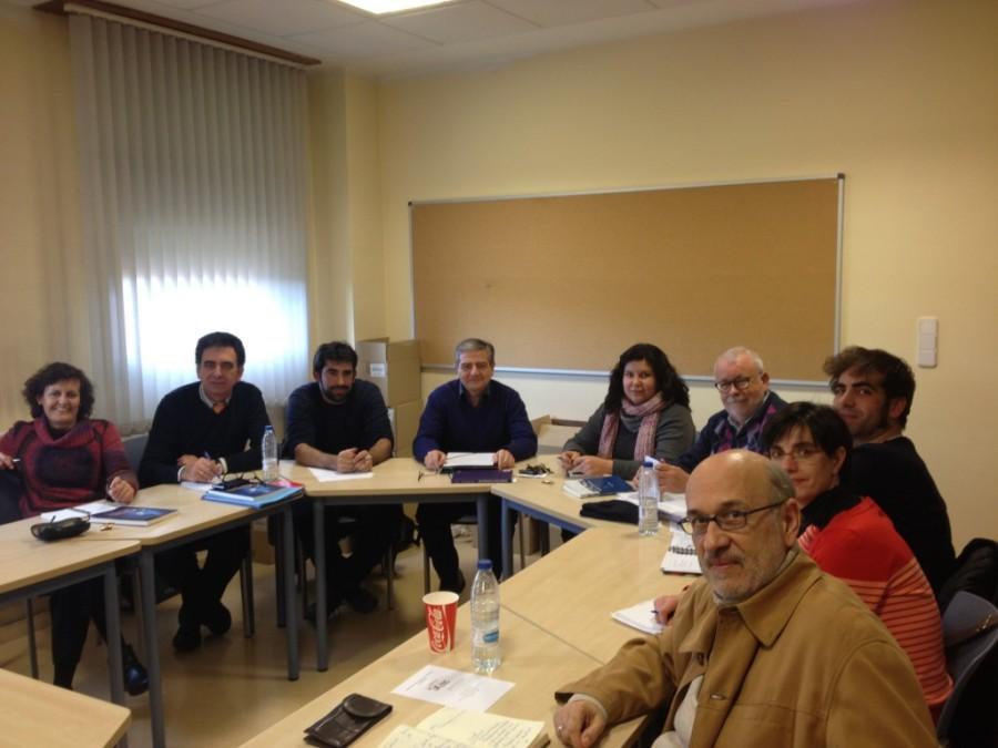 Miembros del proyecto en una reunión en Valladolid